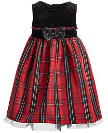 Good Lad Toddler Girls Plaid Holiday Dress