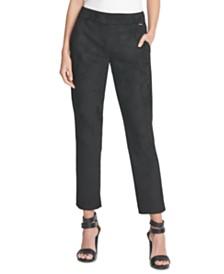 DKNY Faux-Suede Slim-Leg Pants