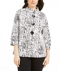 Textured Animal-Print Jacket, Created for Macy's