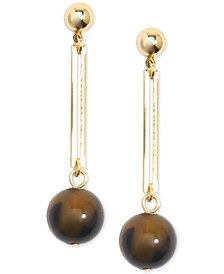 Gold-Tone & Acetate Ball Drop Earrings