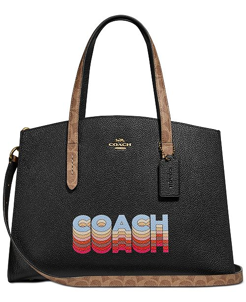 COACH Charlie Carryall In Signature Canvas Blocking By Tyler Spangler Created For Macy's