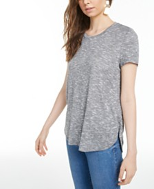 Bar III Marled T-Shirt, Created for Macy's