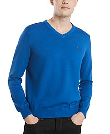 Men's Signature Regular-Fit V-Neck Sweater, Created for Macy's