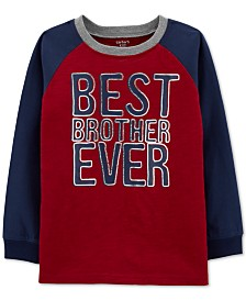 Carter's Little & Big Boys Brother-Print Cotton T-Shirt