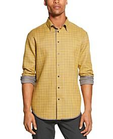 Men's Reversible Solid & Plaid Shirt
