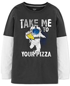 Little & Big Boys Astronaut-Print Layered-Look Cotton T-Shirt