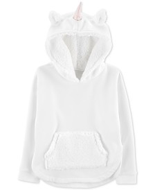 Carter's Little & Big Girls Faux Fur & Fleece Unicorn Hoodie