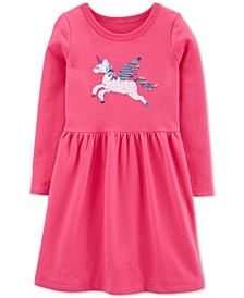 Little & Big Girls Flip Sequin Pegasus Dress