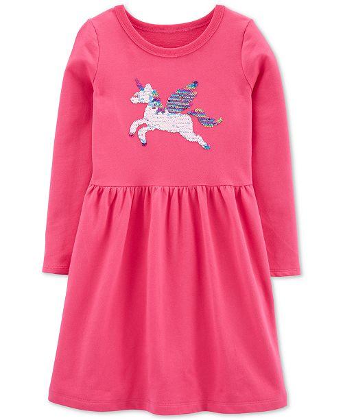 Carter's Little & Big Girls Flip Sequin Pegasus Dress