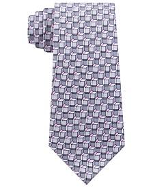 Michael Kors Men's Classic Angular Geo-Print Silk Twill Tie