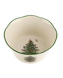 "Christmas Tree 6"" Flared Scalloped Bowl"