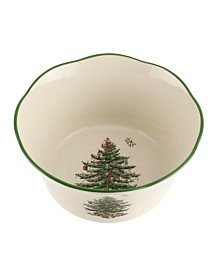 "Spode Christmas Tree 6"" Flared Scalloped Bowl"