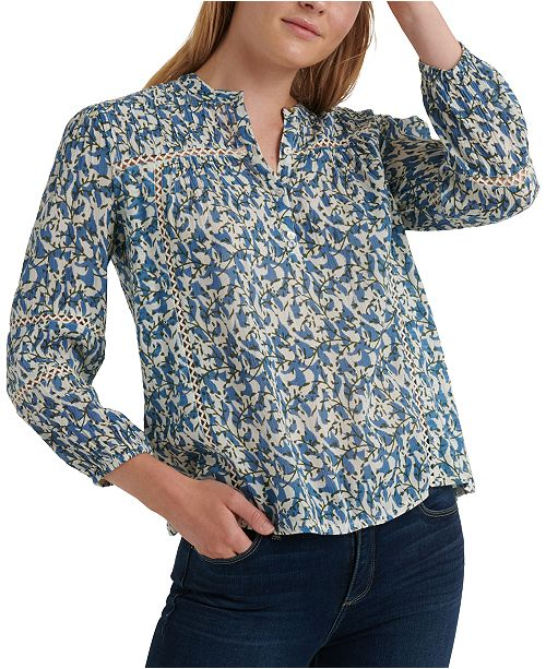 Lucky Brand Cotton Printed Top