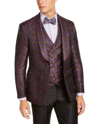 Men's Purple Floral Dinner Jacket