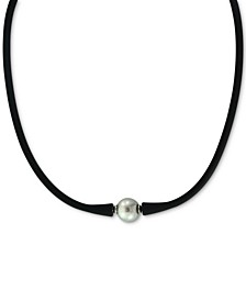 "EFFY® Gray Cultured Freshwater Pearl (11mm) Silicone Rubber 14"" Choker Necklace"