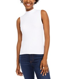 Planet Gold Juniors' Sleeveless Mock-Neck Top