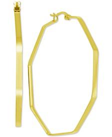 Extra Large Hoop Earrings in Gold-Plate