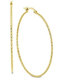 Thin Hoop Earrings in Gold-Plate