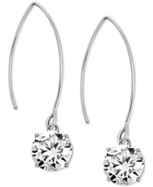 Cubic Zirconia Wire Drop Earrings