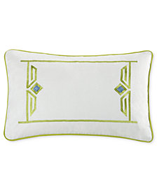 "Echo Sardinia 12"" x 18"" Oblong Embroidered Decorative Pillow"