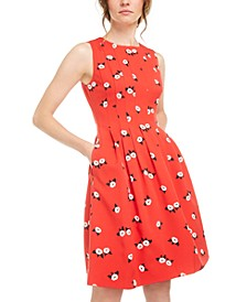 Chatterly Rose Printed Fit & Flare Dress