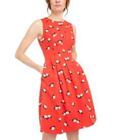 Anne Klein Chatterly Rose Printed Fit & Flare Dress