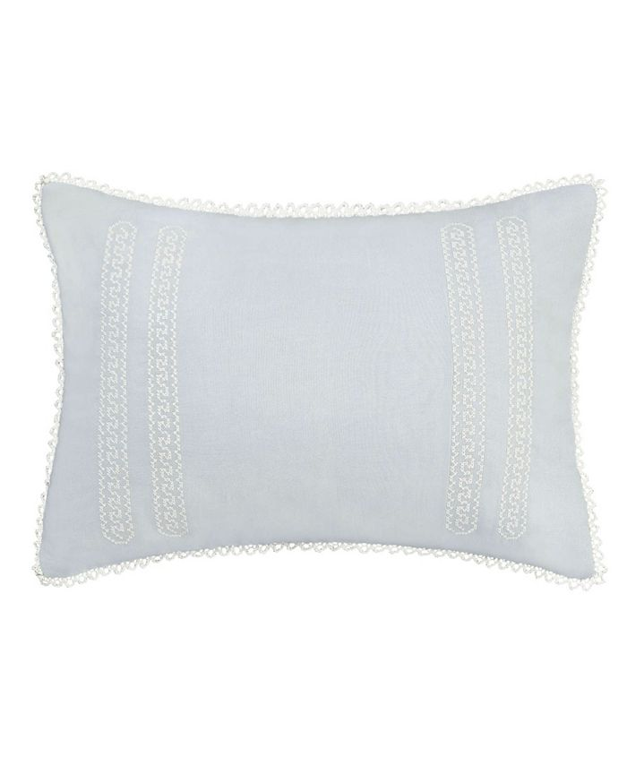 Laura Ashley - Chloe Cross Stitched Embroidered Throw Pillow