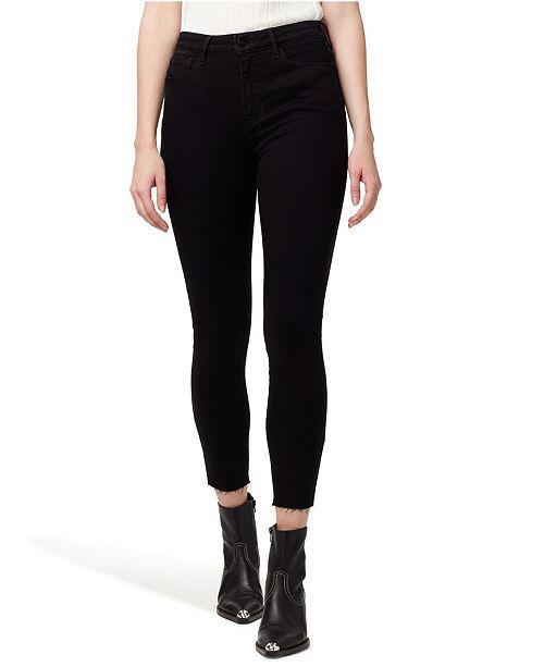 Sanctuary Denim Social Standard High Rise Skinny Ankle Jeans with Raw Hem