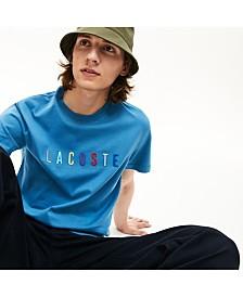 Lacoste Rainbow Logo Crew Neck Tee Shirt