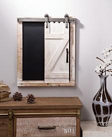 Glitzhome Farmhouse Wooden Chalkboard Barn Door