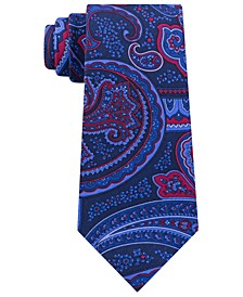 Men's Classic Large Paisley Silk Twill Tie
