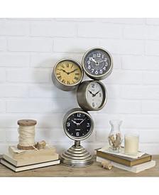 VIP Home & Garden Metal Stacked Table Clock