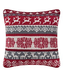 C&F Home Prancing Reindeer Knit Pillow