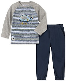 Kids Headquarters Baby Boys 2-Pc. Helicopter-Print T-Shirt & Jogger Pants Set