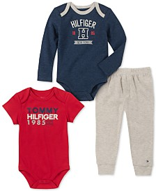 Tommy Hilfiger Baby Boys 3-Pc. Bodysuits & Jogger Pants Set