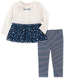 Tommy Hilfiger Baby Girls 2-Pc. Peplum Hem Tunic & Leggings Set
