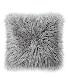 "Sheepskin Faux-Fur 22"" x 22"" Throw Pillow"