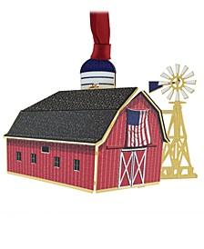 Americana Barn Ornament