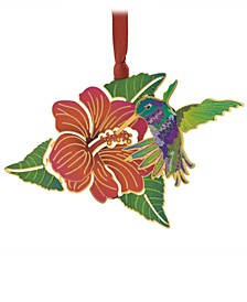 Hummingbird & Flower Ornament