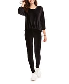 American Rag Juniors' Drawstring-Waist Corduroy Sweatshirt, Created for Macy's