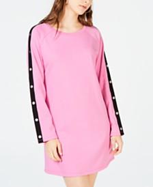 Material Girl Juniors' Embellished Sweatshirt Dress, Created for Macy's