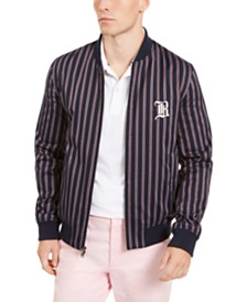 Brooks Brothers Men's Striped Bomber Jacket