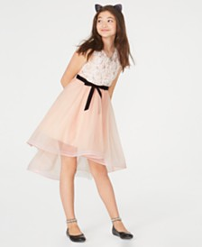 Sequin Hearts Big Girls Floral High-Low Dress