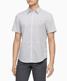Calvin Klein Men's Stretch Dot-Print Shirt