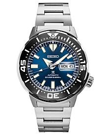 Seiko Men's Automatic Prospex Diver Stainless Steel Bracelet Watch 42.4mm