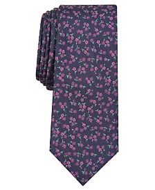 Bar III Men's Penrose Skinny Floral Tie, Created for Macy's
