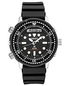 Men's Solar Analog-Digital Prospex Divers Black Silicone Strap Watch 47.8mm