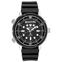 Deals on Seiko Mens Solar Analog-Digital Prospex Divers Black Watch