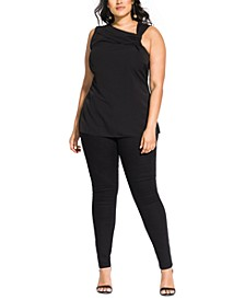Trendy Plus Size Twisted Top