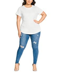 City Chic Trendy Plus Size Longline T-Shirt